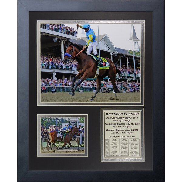 American Pharaoh 2015 Triple Crown Winner Framed Memorabilia by Legends Never Die