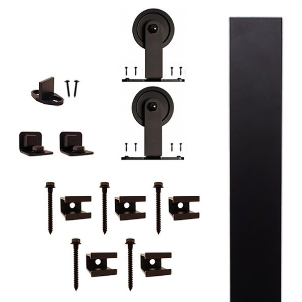Rail Top Mount Barn Door Hardware Kit by Quiet Glide