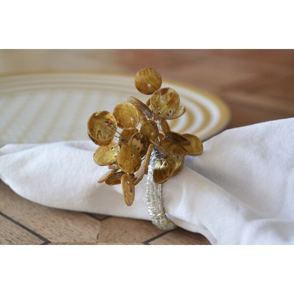 Polished Shell Napkin Ring (Set of 6) by Rosecliff Heights