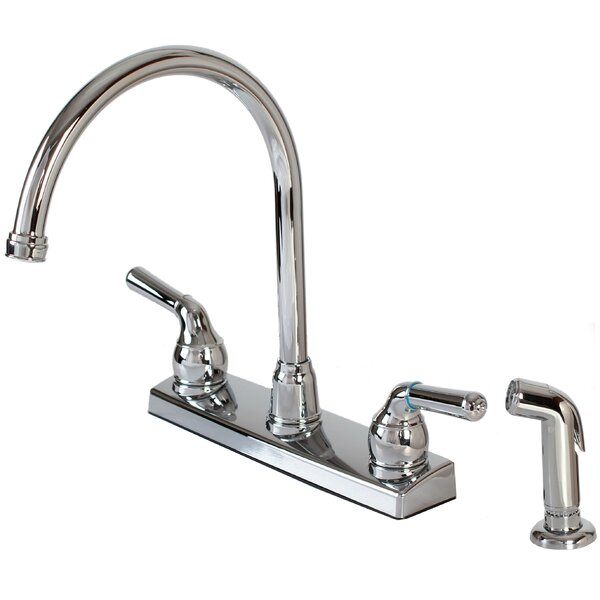 Double Handle Kitchen Faucet with Side Spray by Hardware House
