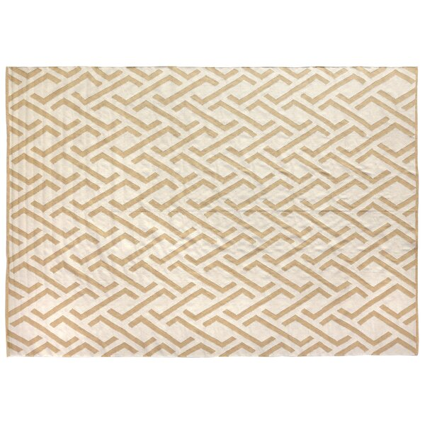 Hand-Woven Wool Caramel/Ivory Area Rug by Exquisite Rugs