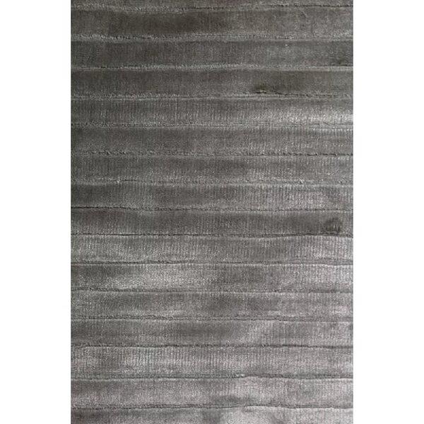 High Low Hand-Woven Dark Gray Area Rug