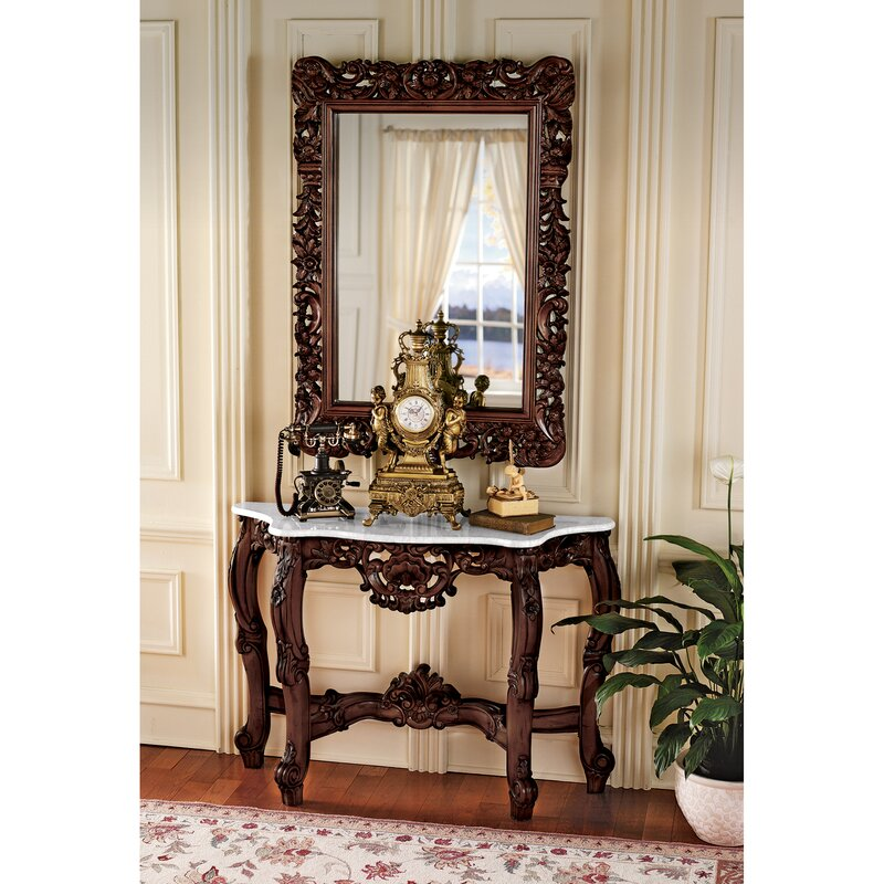 Royal Baroque Console Table and Mirror Set  sc 1 st  Wayfair & Design Toscano Royal Baroque Console Table and Mirror Set \u0026 Reviews ...