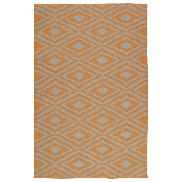 Greenfield Orange/Gray Indoor/Outdoor Area Rug by Loon Peak