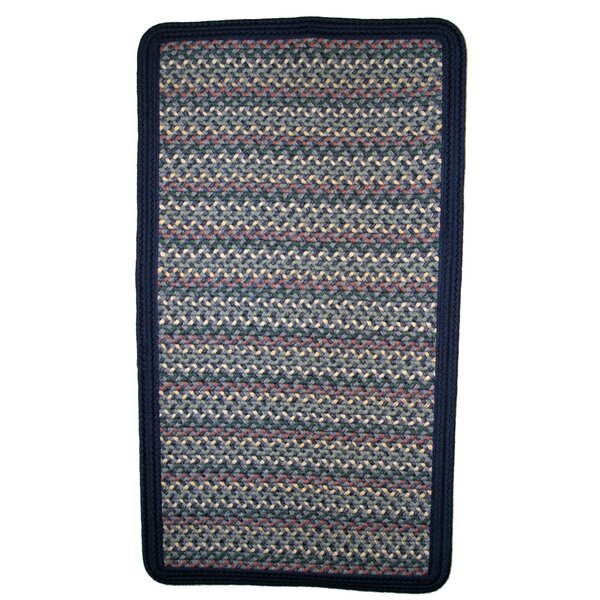 Pioneer Valley II Meadowland Blue with Dark Blue Solids Multi Rectangle Rug by Thorndike Mills