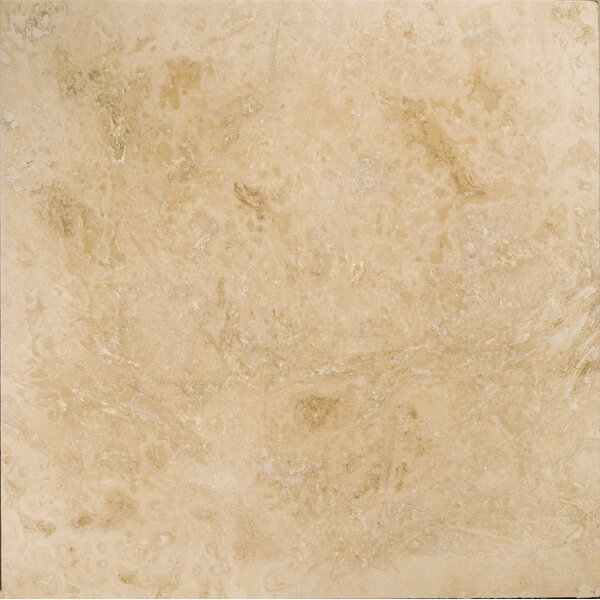 Travertine 24 x 24 Filled and Honed Field Tile in Beige by Emser Tile