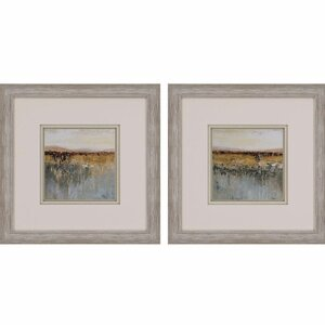 Antique Contemporary by Pinto 2 Piece Framed Painting Print Set by Paragon