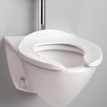 Commercial Wall Mount Flushometer 1.28 GPF Elongated Toilet Bowl by Toto