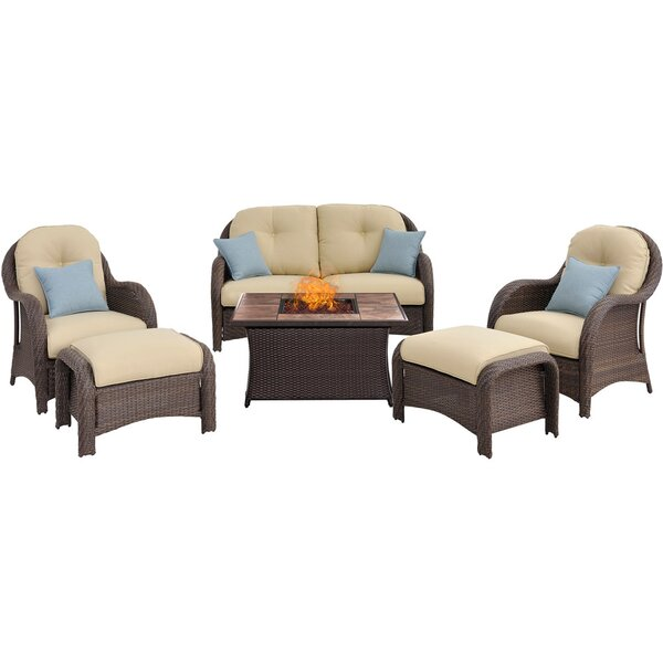 Dall 6 Piece Sofa Set With Cushions By Darby Home Co