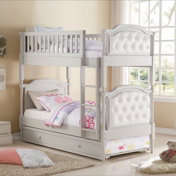 Maryjo Twin over Twin Bunk Bed with Trundle by Harriet Bee