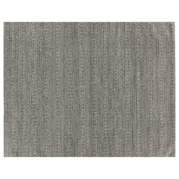 Hand-Woven Wool Black Area Rug by Exquisite Rugs
