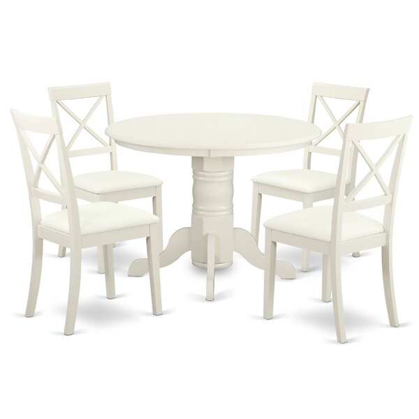 Sherlock 5 Piece Solid Wood Dining Set by August Grove
