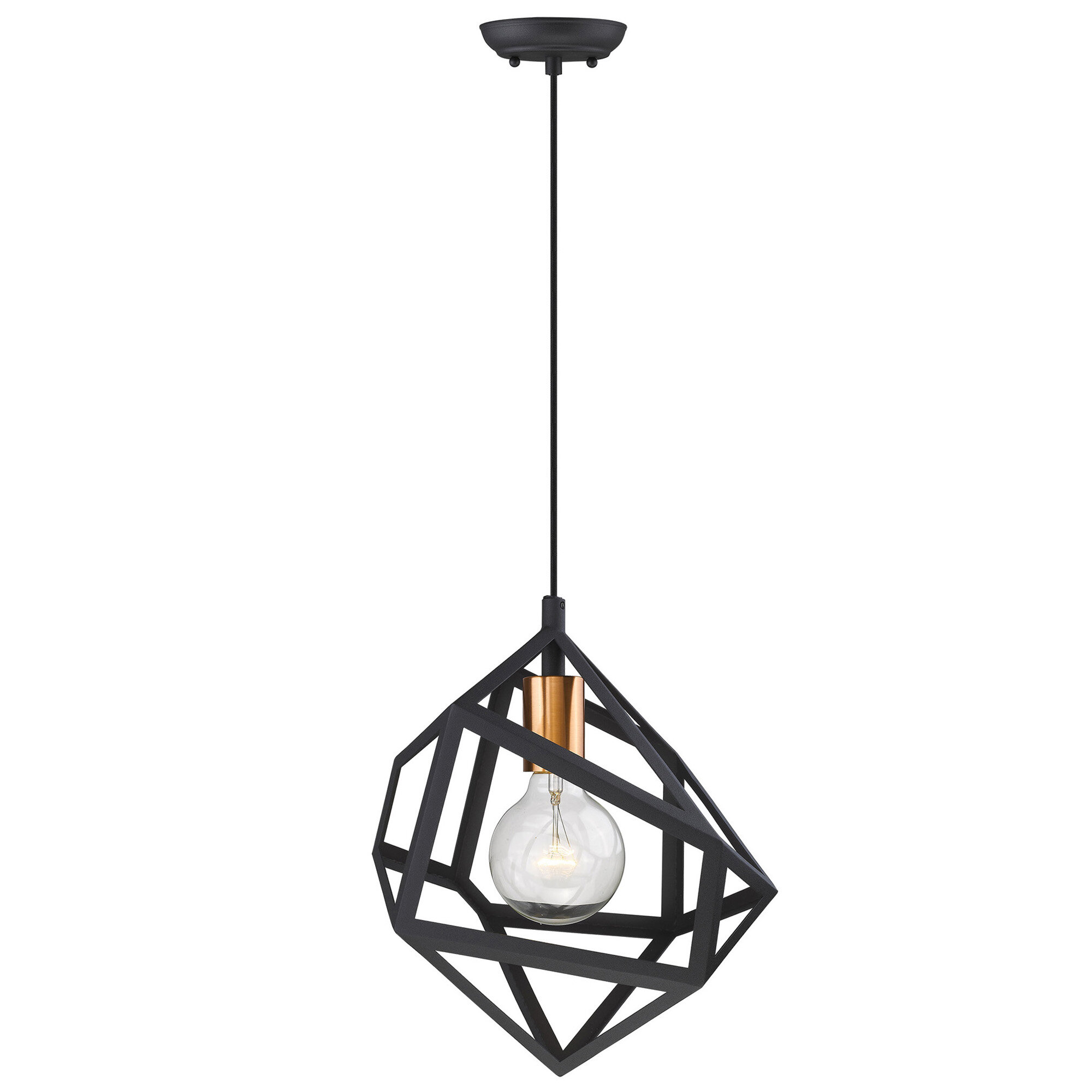 Wrought Studio Allport 1 Light Single Geometric Pendant Wayfair