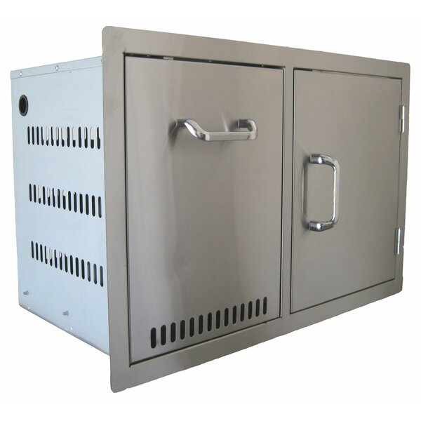 Built in Combo Accessory Propane Tank and Trash Cabinet and Single Door by BeefEater