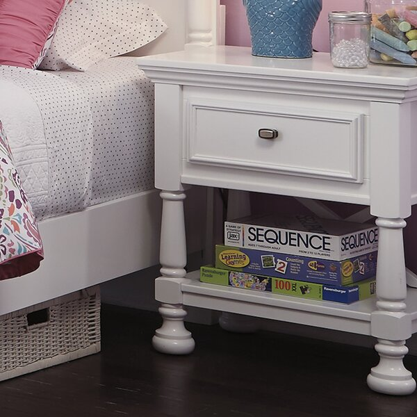 Jeffersonville 1 Drawer Nightstand by Darby Home Co
