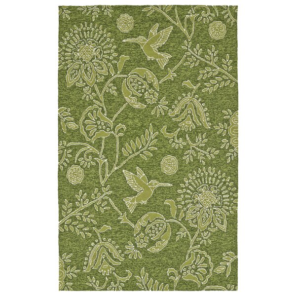 Navarre Handmade Green Indoor/Outdoor Area Rug by Bay Isle Home