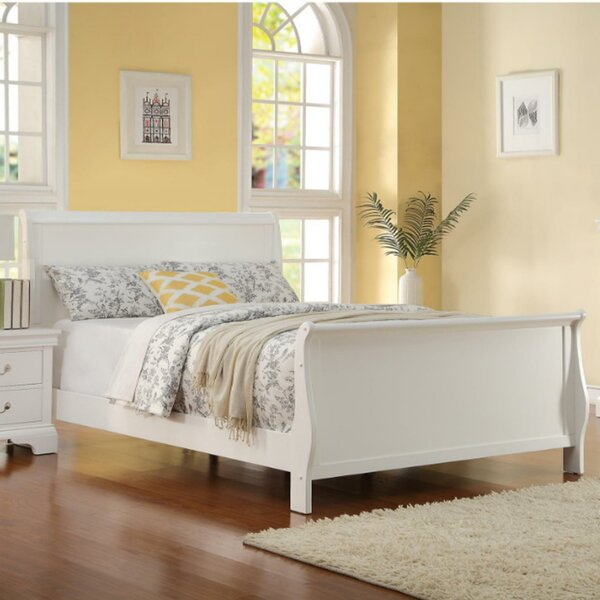 Roche Spellbinding Clean Wooden Sleigh Bed by August Grove