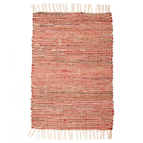 Morocco Hand-Woven Sandwashed Red Area Rug by CLM