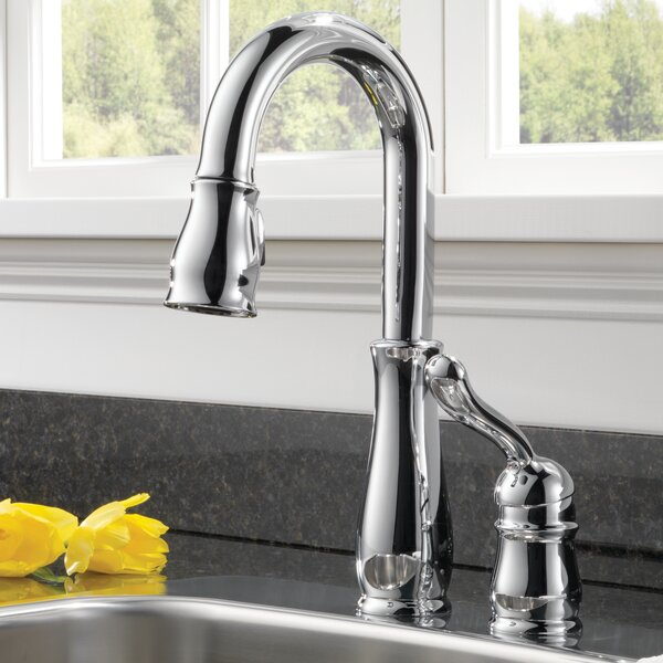 Leland® Pull-Down Faucet with MagnaTite® Docking and Diamond Seal Technology by Delta