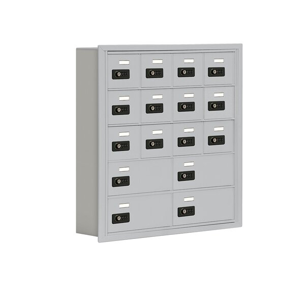 16 Door Recessed Cell Phone Locker by Salsbury Industries