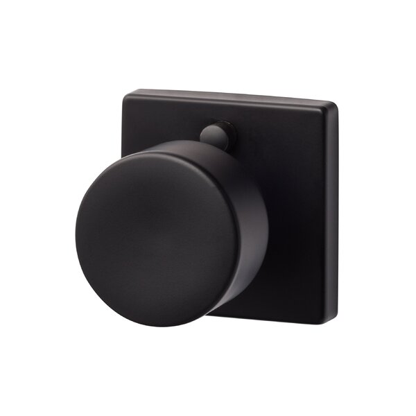 Bergen Privacy Door Knob with Square Rosette by Su