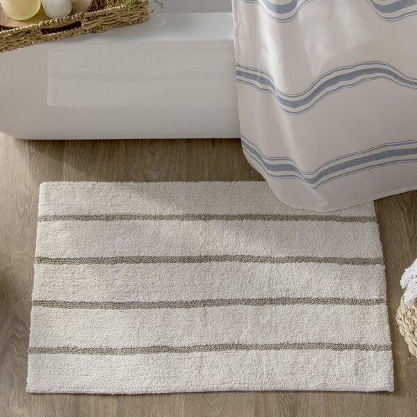 Caufield Cotton Tufted Striped Bath Rug by Eider & Ivory