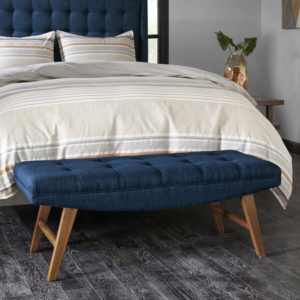 Belz Upholstered Wood Bench by Langley Street