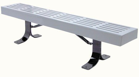 Slatted In Ground Steel Picnic Bench by Leisure Craft