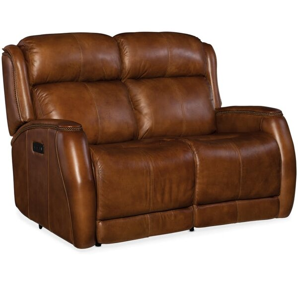 Fine Brand Emerson Leather Reclining Loveseat Shopping Special: