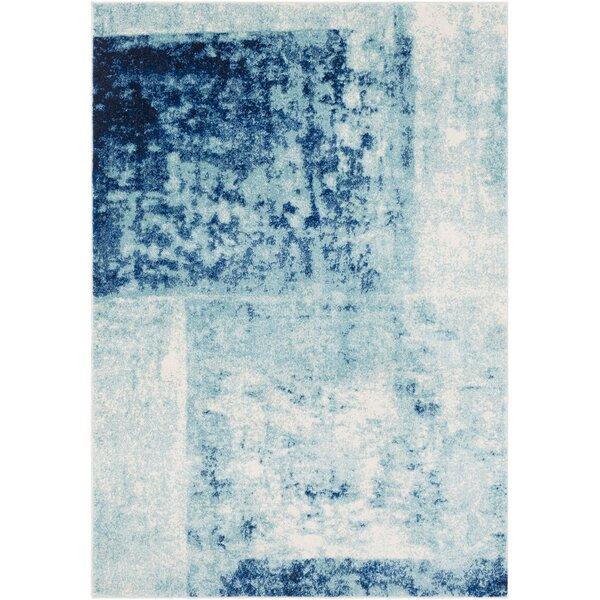 Leonardo Modern Navy/Blue Area Rug by Bungalow Rose