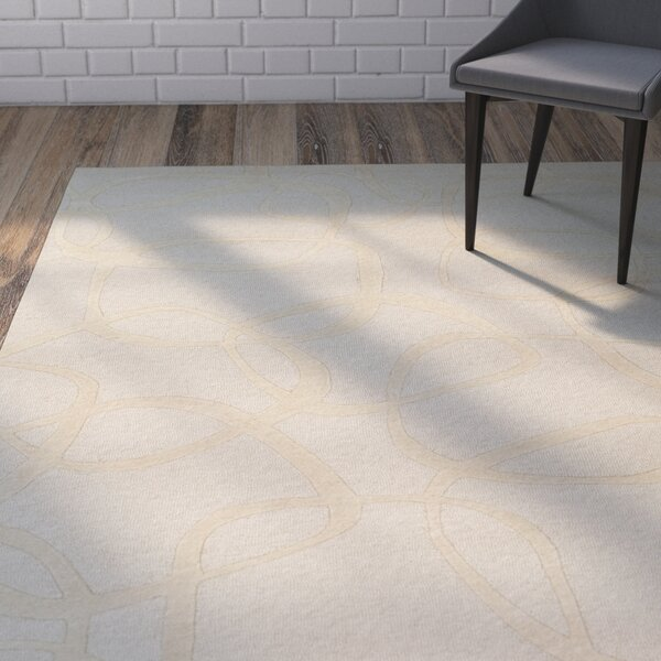 Himes Hand-Tufted Khaki/Butter Area Rug by Wrought Studio
