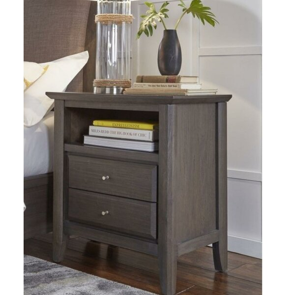 Hawkinge Wooden 2 Drawer Nightstand by Gracie Oaks