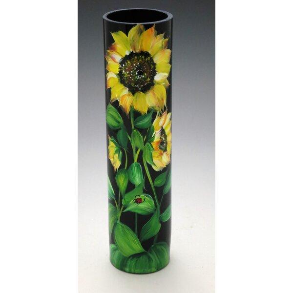 Christinashandpainted Midnight Sunflower Vase Wayfair