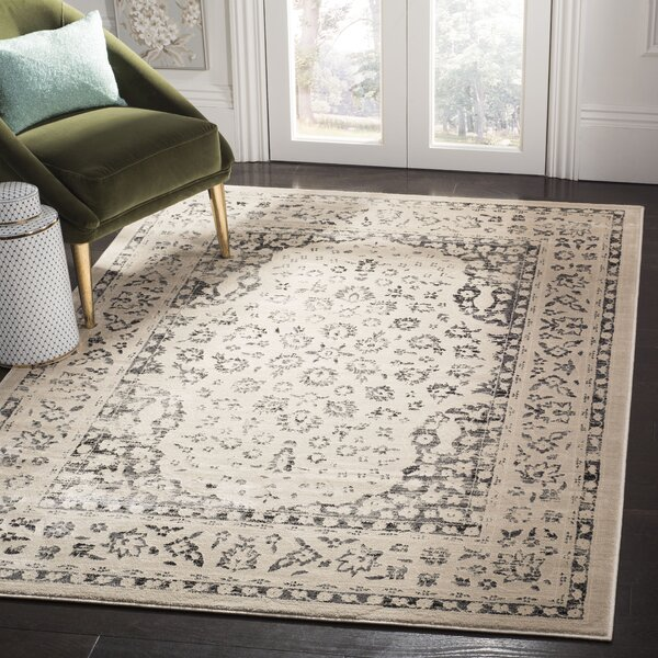 Minonk Beige/Blue Area Rug by Darby Home Co
