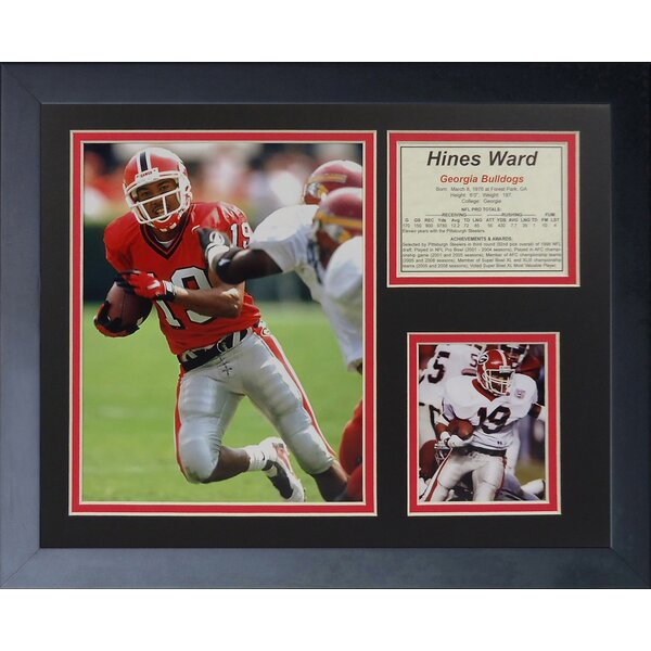 Hines Ward - Bulldogs Framed Memorabilia by Legends Never Die
