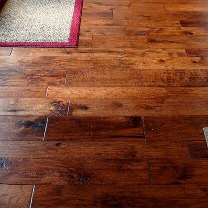 Hudson Bay Random Width Engineered Hickory Hardwood Flooring in Yukon by Albero Valley