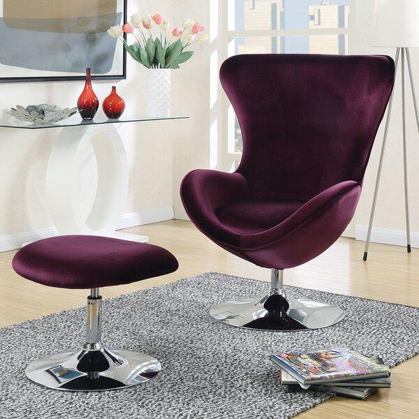 Ravenscourt Swivel Balloon Chair and Ottoman by Orren Ellis
