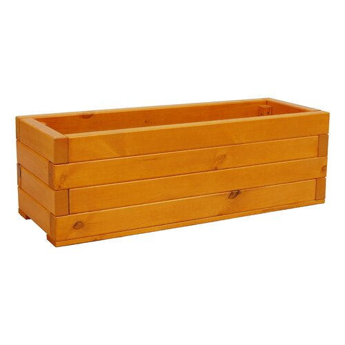 Trough Wooden Planter Box Freeport Park Size: 36.5 cm H x 12