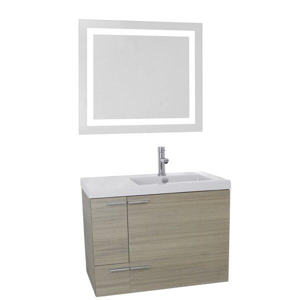 New Space 31 Single Bathroom Vanity Set with Mirror by Nameeks Vanities| @ $1,559.99