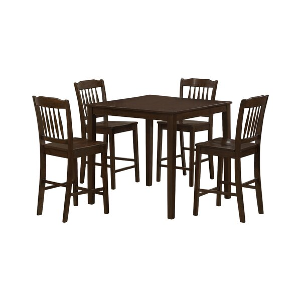 5 Piece Counter Height Dining Set by Monarch Specialties Inc.