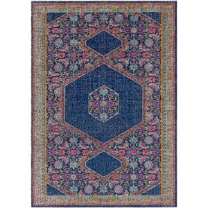 Fredonia Blue/Pink Area Rug