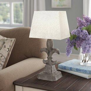Fleur de lis lamp wayfair frankfort fleur de lis accent 19 table lamp mozeypictures Image collections