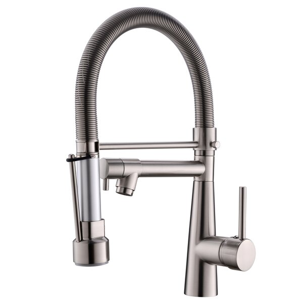 Solid Brass Pull Down Touch Single Handle Kitchen Faucet by KANGJU KANGJU