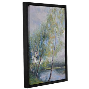 'Poetry On Riverbank' Framed Painting Print On Canvas by Three Posts