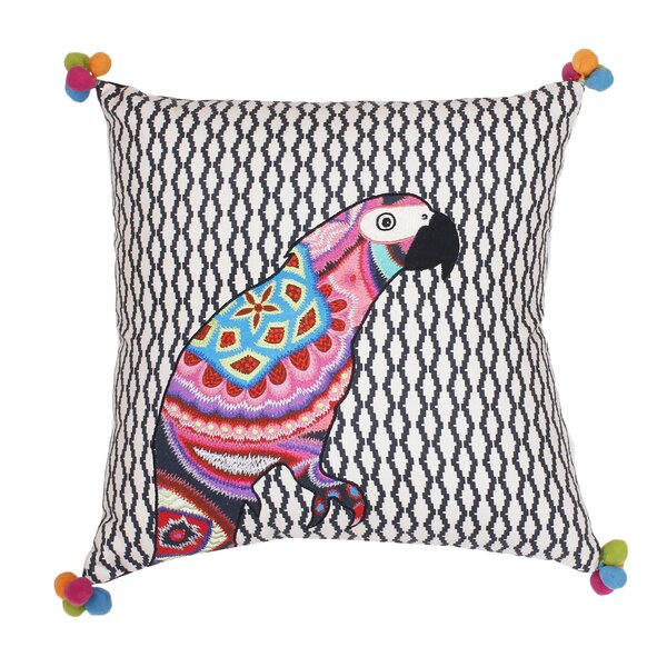 Jax Embroidered Cotton Throw Pillow by Ivy Bronx