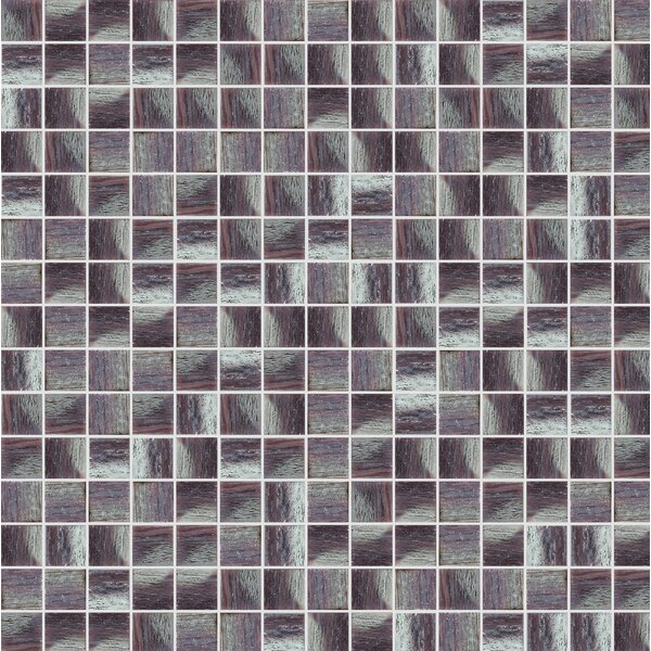 Glare 13 x 13 Glass Mosaic Tile in Purple/Gray by Mosaic Loft