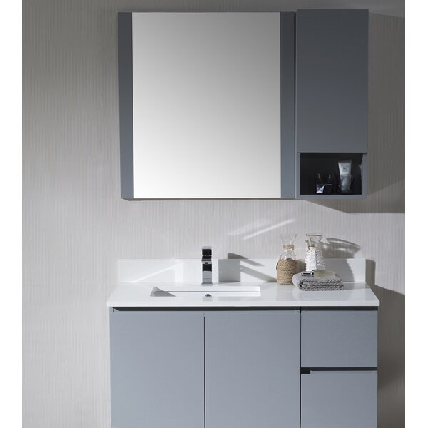 Maly 43 Single Bathroom Vanity Set with Mirror by Orren Ellis