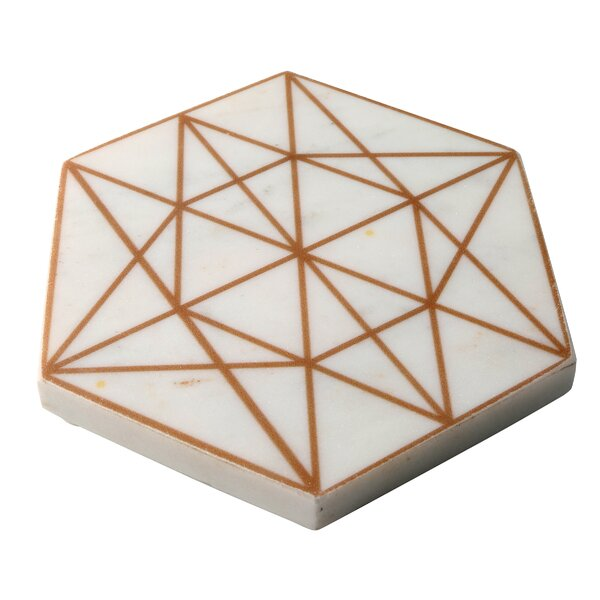 Old Hollywood Marble Hexagon Trivet by Thirstystone