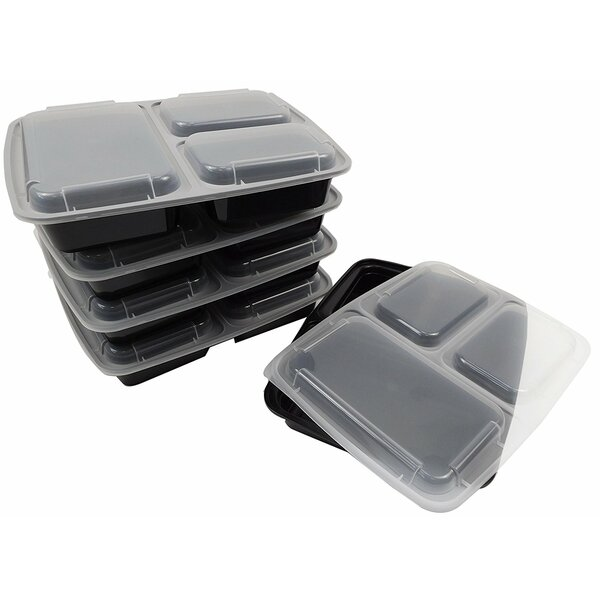 Lunch Boxes 36 Oz. Food Storage Container with Lid (Set of 20) by Rebrilliant