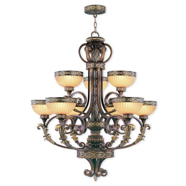 Schweizer 9-Light Shaded Tiered Chandelier by Astoria Grand Astoria Grand